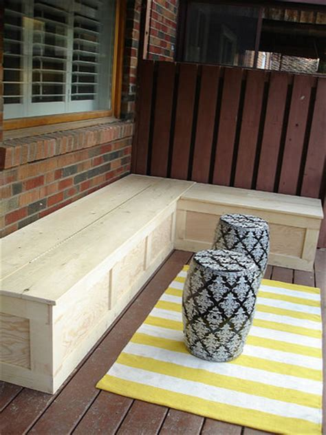 diy outdoor storage bench seat 13 awesome outdoor bench projects the garden glove