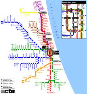 Chicago Public Transportation Map by Chicago Heavy Rail Cta Map