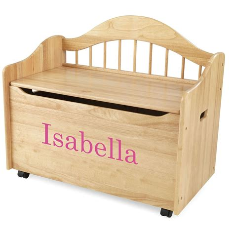 kidkraft personalized limited edition toy box natural