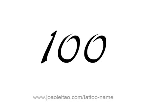 hundred 100 number tattoo designs page 4 of 4 tattoos