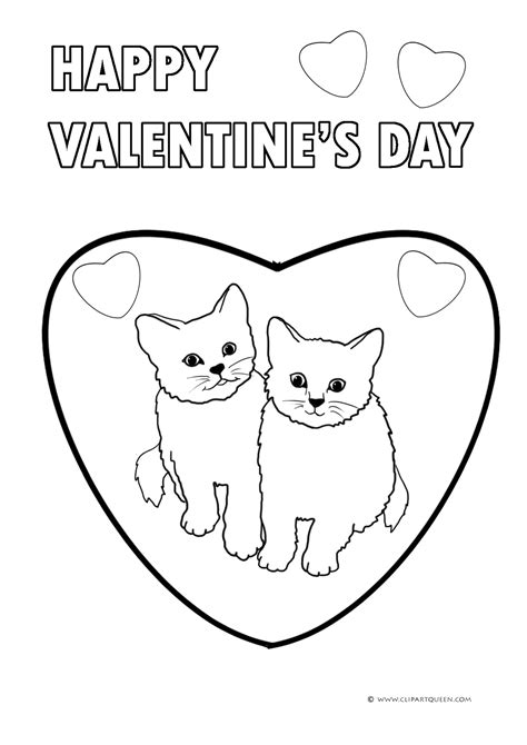 kitten valentine coloring page 11 valentine s day coloring pages