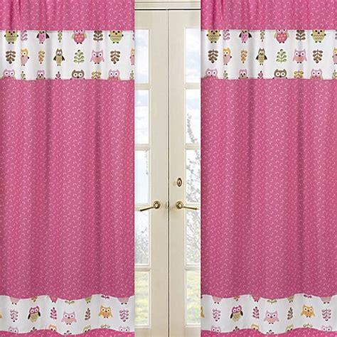 sweet jojo designs curtains sweet jojo designs happy owl window curtain panel pair in
