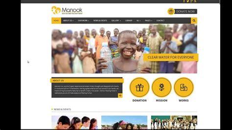 tutorial joomla spanish b2j manook joomla template for charities non profits