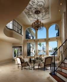 Foyer Chandelier Height Pretty Sauder Harbor Viewin Living Room Mediterranean With