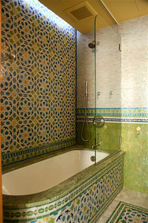 Bathroom Tile Decorating Ideas by Moroccan Bathrooms Mediterranean Bathroom New York