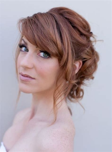 elegant hairstyles with bangs picture of chic and pretty wedding hairstyles with bangs