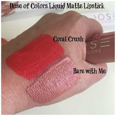 Moodmatcher Liquid Matte Coral Crush dose of colors matte liquid lipstick swatches a