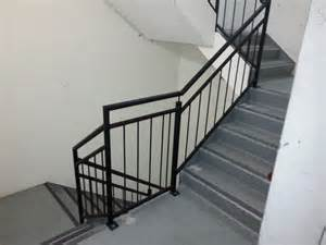 Stainless Handrail Systems Galvanised Steel Balustrade To Fire Stairs Elite Balustrades