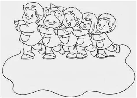 imagenes de unos niños jugando para colorear im 225 genes de ni 241 os en fila para colorear e imprimir