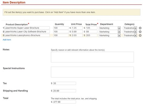 purchase orders automated with laserfiche forms
