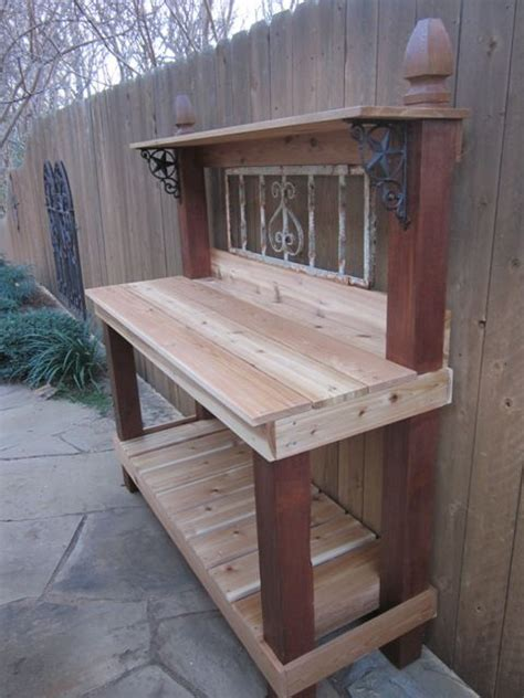 build potting bench potting bench with sink diy woodworking projects plans