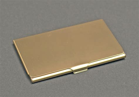 Gold Business Card Holder gold brass business card holder the finer line inc
