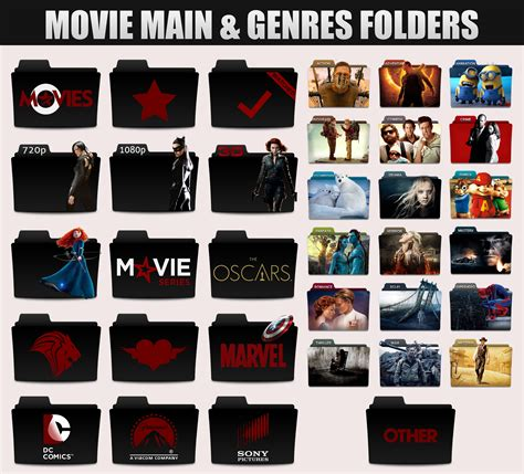 movie genres folders by sonerbyzt on deviantart