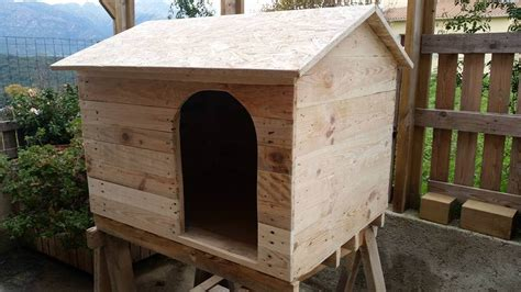 how to make a wooden dog house pallet dog house to give your dog more comfort 99 pallets