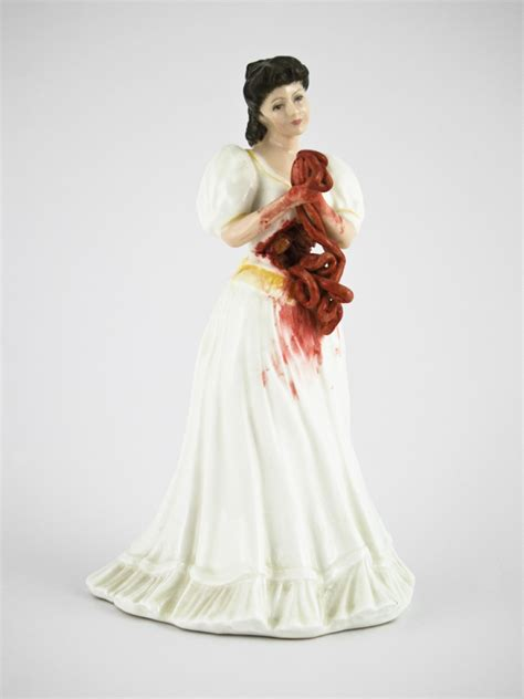 porcelain doll artists feminist artist gives porcelain dolls an awesomely