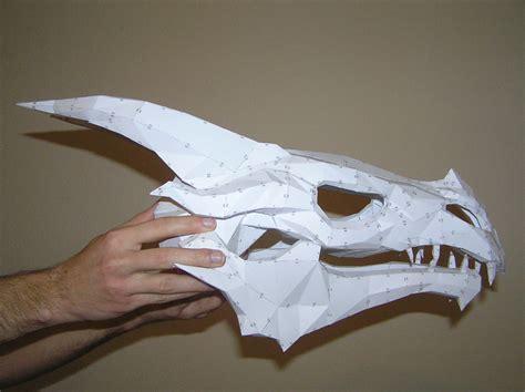Skull Papercraft - pepakura skyrim skull 1 by distressfasirt on