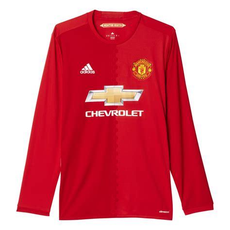 Setelan Jersey Manchester United Mu Gk Longslseve Ls 2017 2018 adidas manchester united home mens sleeve jersey 2016 2017 in excell sports uk