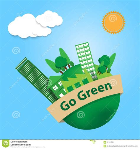 go green city background stock vector image of media world with trees city and factory building on go green
