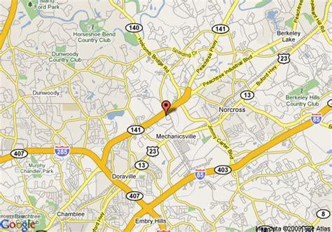 map of norcross map of 8 motel norcross ga norcross