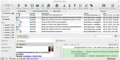 git tutorial with sourcetree git how to get list of files for a commit in atlassian