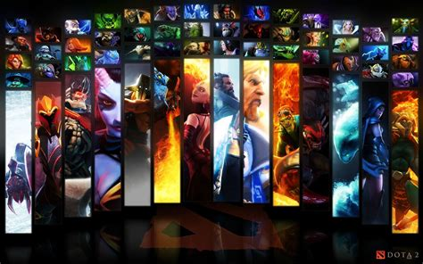 wallpaper dota 2 all heroes dota 2 wallpapers dota 2 wallpaper heroes icon mix with