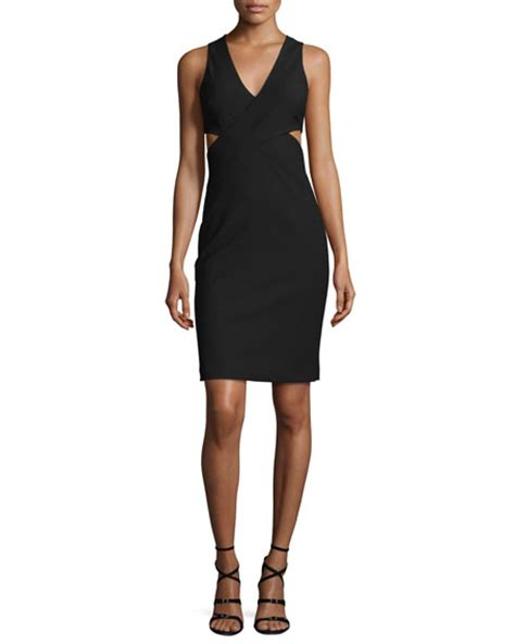 Nm Rdr Dress Cutout elizabeth and aldridge sleeveless cutout sheath dress black