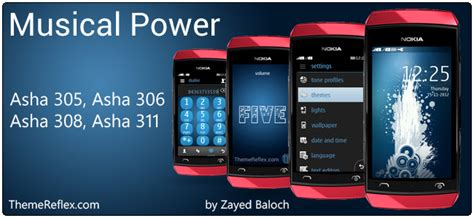 themes of nokia asha 306 musical power theme for nokia asha 305 asha 306 asha 308