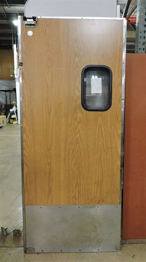 traffic swinging doors eliason traffic door 35 1 2 quot x 82 1 2 quot commercial