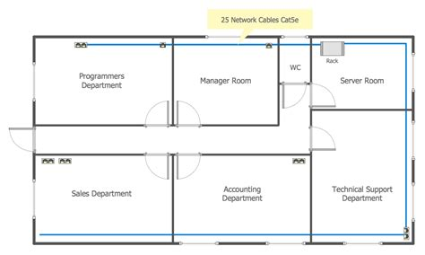 network floor plan network communication plan computer and networks