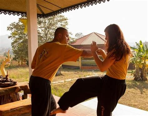 pai thailand picture of nam yang kung fu retreat day courses pai block and kick self defense combination picture of nam