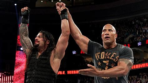 rock and roman reigns royal rumble 2015 la wwe saborde t elle roman reigns
