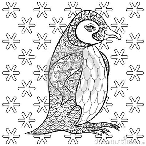 advanced snowflake coloring pages coloring pages with king penguin among snowflakes