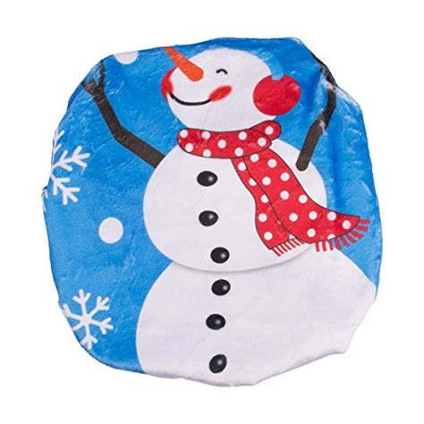 santa toilet seat cover and rug set d fantix snowman santa toilet seat cover and rug set blue import it all