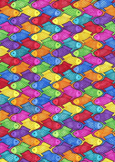 tessellation fish by chibi sugar on deviantart