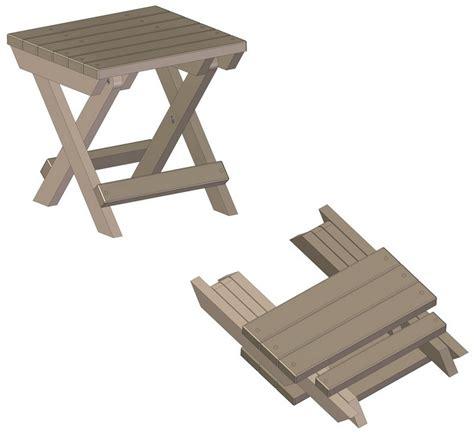folding stool plans    build diy woodworking