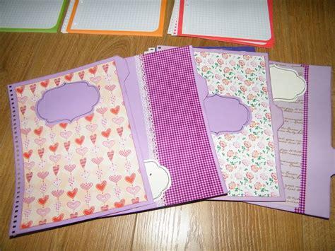 decorar hojas blancas a mano rosa scrapea tutorial cuaderno para el profesor