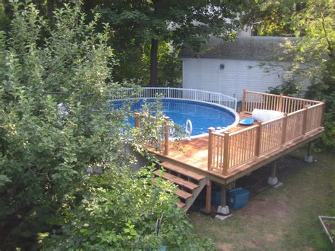 small round swimming pool for garden above ground with above ground pool decks idea for your backyard decor