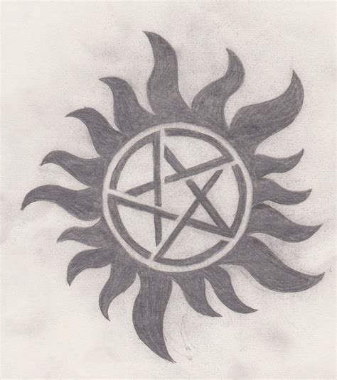 anti tattoo supernatural anti possession symbol