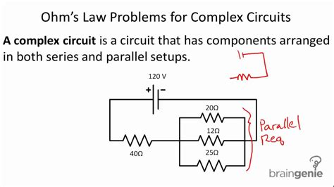 physics resistors in series and parallel problems physics 6 2 6 ohm s problems for complex circuits