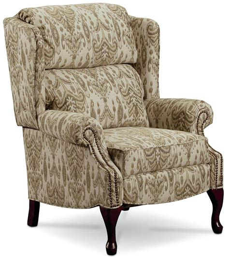 high leg wingback recliner hi leg recliners 2530 high leg wing back