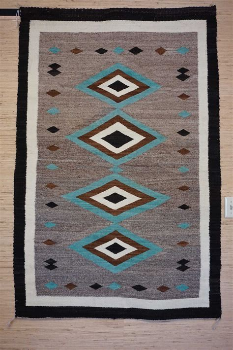 Turquoise Rugs For Sale by Jb Trading Post Navajo Rug Turquoise Diamonds