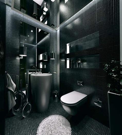black toilet bathroom design salle de bain noire marron et grise comment l am 233 nager