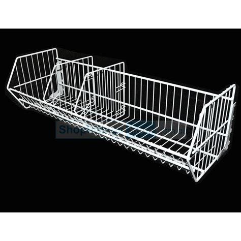 Wire Shelf Basket by Gondola Shelving Wire Basket