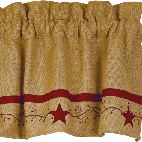 Primitive Burlap Curtains Primitive Vine Cotton Burlap Valance Primitive Home Decors