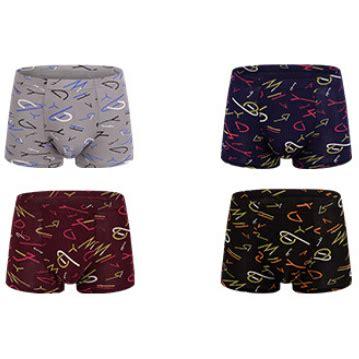 3 Pcs Celana Dalam Pria Size L celana dalam boxer pria model letter 1 4pcs size l multi
