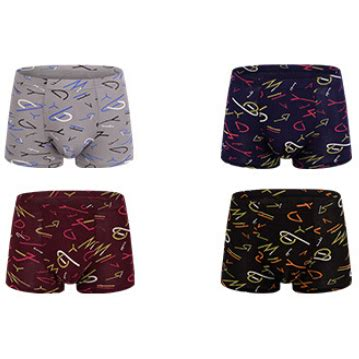 Celana Dalam 5l 2 celana dalam boxer pria model letter 2 4pcs size l multi color jakartanotebook