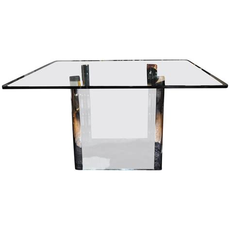 Square Dining Tables For Sale Pace Collection Chrome And Glass Square Dining Table For Sale At 1stdibs