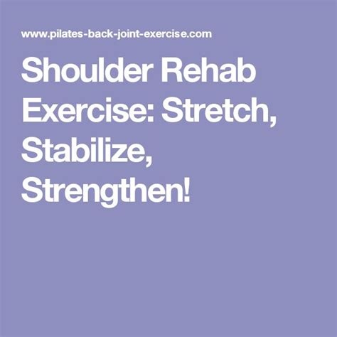 Detox Stabilze Aftercare Treatment Phase best 25 shoulder rehab exercises ideas on