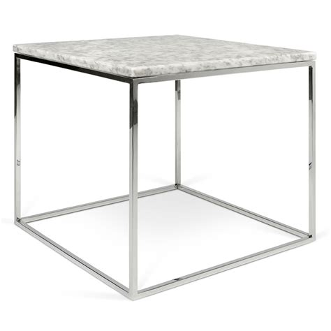 chrome side table gleam white chrome marble side table by temahome eurway
