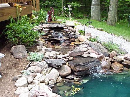 Terassen Gestaltung 4709 by водоемы в ландшафтном дизайне водопад возле дома своими